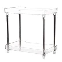 Decdeal Multi-Functional 2-Tier Cosmetic Organizer Tray Storage Shelf Ca... - $27.19