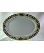 """C Tielsch 1920's German Floral Band #2251 Small Oval Platter 10"""" - $12.59"""