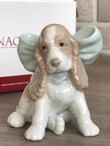 Nao by Lladro 02001349 Puppy Present Porcelain Figurine Glased New  - $90.00