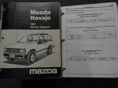 1991 Mazda Navajo Service Shop Reparatur Manuell Set OEM Bücher Fehlende Erste