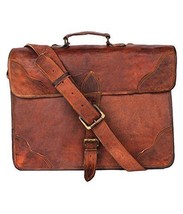 "New Man's 15"" Brown Vintage Soft Leather Designer Shoulder Satchel Messe... - $47.52"