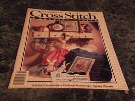 Cross Stitch & Country Crafts Magazine January/February 1990 Spring Wreath - $0.99