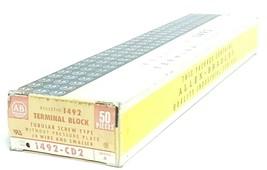 BOX OF 50 NEW ALLEN BRADLEY 1492-CD2 TERMINAL BLOCKS SER. A