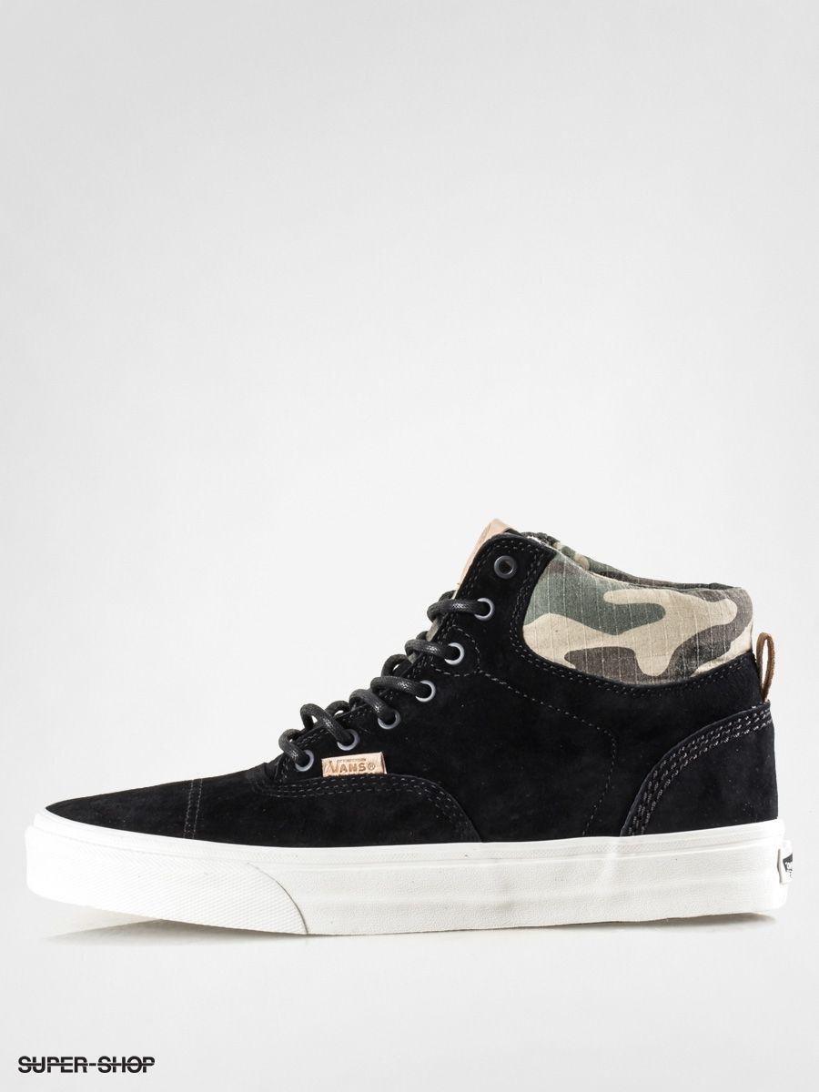 eeb5105d1a633b Vans Era Hi CA Pig Suede Black Camo Men s Classic Skate Shoes Size sz 11 sk8