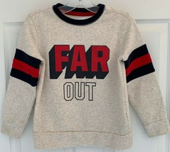 Gildan Heavy Blend Boys Youth XS Gray Red Black Sweatshirt Far Out Jacket Shirt - $4.45