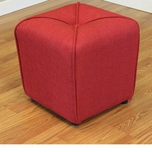 ModHaus Living Modern Linen Upholstered Footstool Ottoman with Thick Foa... - $97.86
