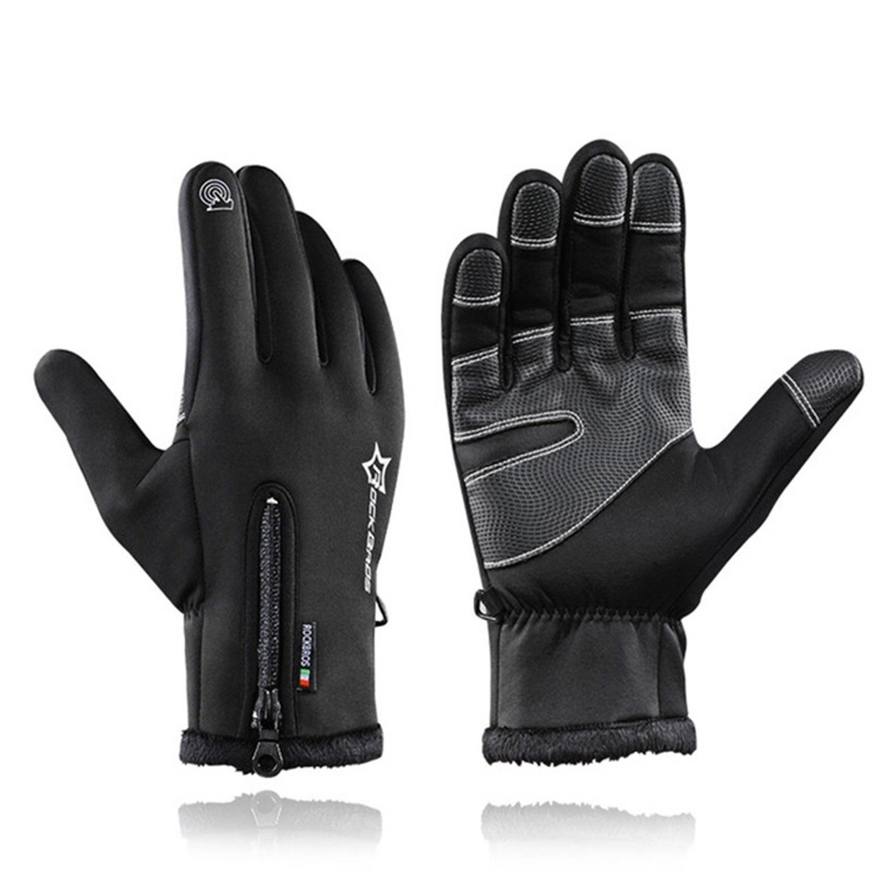 Rockbros Winter Thermal Ski Gloves Skiing Windproof Snowboard Waterproof Cycling