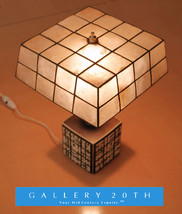 RARE! MID CENTURY MODERN ABSTRACT SQUARES CUBE LAMP! Raymor 50s Vtg B&W ... - £654.40 GBP