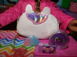 "18"" Doll School Accessories Unicorn Duffle Bag Lot American Girl Our Generation - $19.79"