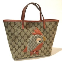 AUTHENTIC GUCCI GG Papagallo Parrot Tote Bag Beige/Red 271101 - $400.00