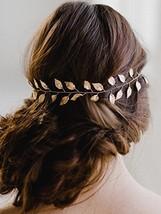 Yean Wedding Headband Gold Leaf Bridal Headpieces for Bridesmaid and Flowergirls
