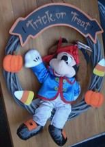 Pirate Mickey Mouse Halloween Trick-or-Treat Wreath - BRAND NEW WITH TAG... - $19.79