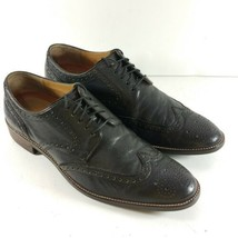 Cole Haan Grand OS Men's Size 10.5 M Oxfords Black Leather Wingtip Brogu... - $62.87