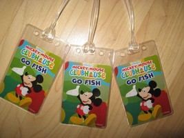 Mickey Mouse Luggage Tags -  Walt Disney Clubhouse Vintage Go Fish Name ... - $19.79