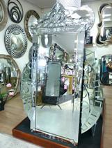 XL Ornate Crown Venetian Mirror Floor Wall FULL LENGTH Dressing Arch HOR... - $838.53