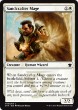 Magic The Gathering-Dragons of Tarkir-Sandcrafter Mage  - $0.05