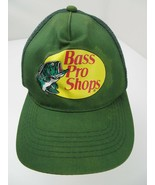 Bass Pro Shops Gone Fishing Green Trucker Snapback Adult Cap Hat - $12.86