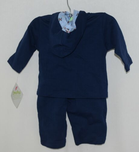 SnoPea Baby Boy Blue Ariplanes Long Sleeve Outfit 6 Months