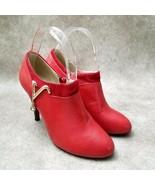 Decsman Womens DKA2665  Sz 5 M Red  High Heel Shooties - $29.99