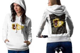Coffee quote. Yoga. Coffee. Naps Womens White Classic Hoodie - $30.99+