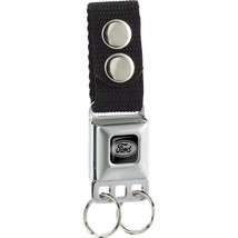 Keychain Buckle-Down - Ford Oval Logo Full Color Black - $6.95