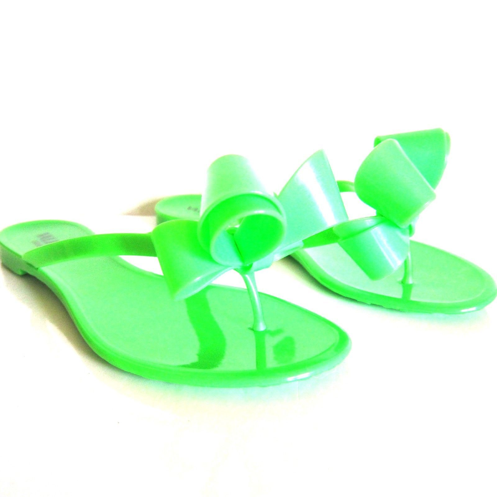 600fc5672 S l1600. S l1600. F-841148 New Valentino Neon Green Jelly Sandals with Bow  Marked 36 US 6 ...