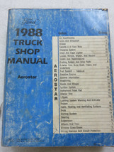 1988 Ford Aerostar Service Repair Manual OEM Factory Dealership Workshop - $2.95