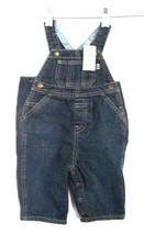 Sz 3-6 mo. 11-15 lbs. NWT The Children's Place Blue Jean Denim Overalls w/Snaps - $18.99