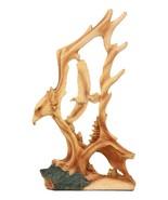 "Faux Wood Carving Design Wildlife American Bald Eagle Landing Statue 12""... - $34.99"