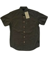 Effort's Eco-Essentials Button Shirt Men's S M L XL Green Short Sleeve H... - $19.95