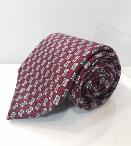 "RESPIGHI MEN'S NECK TIE BURGUNDY WINE FLORAL ALL SILK Made in Italy 58"" LONG 4 W"