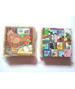 2 Melissa & Doug Wooden Cube Puzzle 16 wood blocks 6 Pets Scenes Learnin... - $11.99