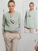 Burda Sewing Pattern 7220 Misses Ladies Blouse Size 10-22 New - $13.43