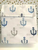Pillowfort Twin Anchors Sheet Set BLUE Nautical Navy Blue White Pirate  image 1