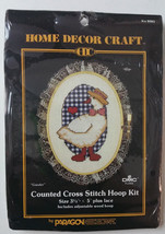 PARAGON Counted Cross Stitch Kit with HOOP Gander Rooster Heart Basket C... - $11.99