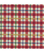 Longaberger Small Over the Edge Recipe Liner ~ Cherry Red Plaid Fabric ~ - $16.60