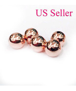 1pc 14k  rose gold 12 mm round polish loose bead 12MM  Hole size 3.3 mm - $68.31
