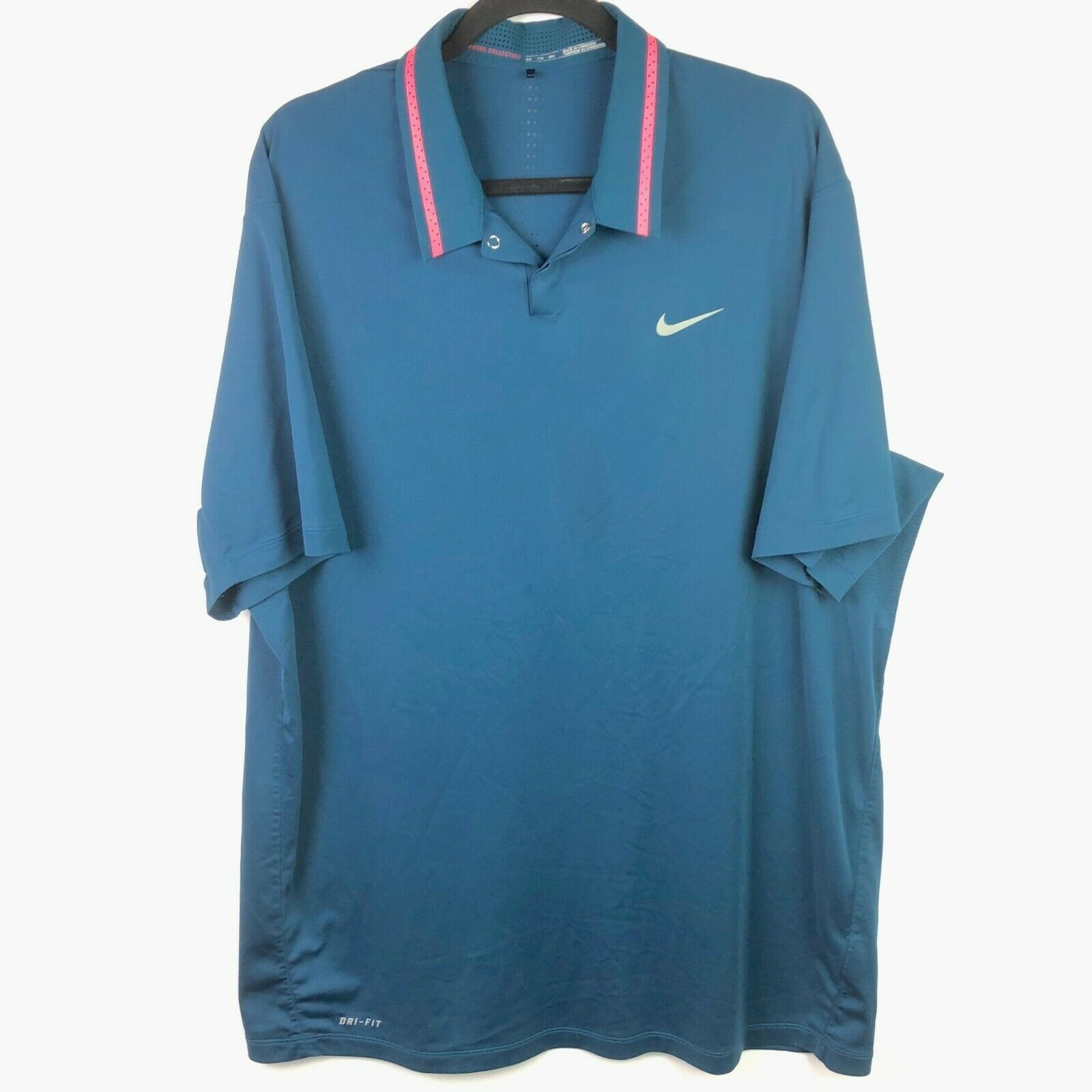 Nike Golf Tiger Woods TW Ultra 3.0 Dri-fit Polo Size XXL Space Blue 619757 483 - $37.62