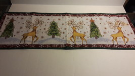 CHRISTMAS  TAPESTRY TABLE RUNNER & 4 PLACEMATS SET - $24.99