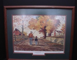 "Buford Winfrey Pencil Signed Print ""Catching Memories"" Circa 1980s - $25.00"