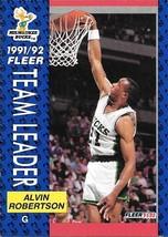 Alvin Robertson ~ 1991-92 Fleer #386 ~ Bucks - $0.05
