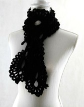Lace Scarf, Crochet, Knit, Handmade, Gift, Lariat, Winter, Fashion - $25.74