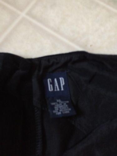GAP KIDS black Velveteen Jumper Size XL Ribbon Trimmed Waist button back image 3