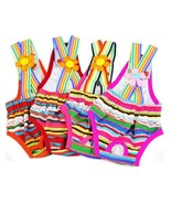Rainbow Design Dog Suspender Physiological Pants 6# - $9.89