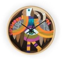 Zodiac Wooden Wall Clock, Capricorn Christmas Gift, Colorful Wall Decor,... - $39.99