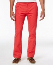 NWT Tommy Hilfiger Men's 42X30 Dot Pattern Custom Fit Pants, Red Size 42 - $69.30