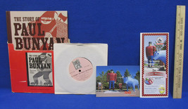 The Story Of Paul Bunyan Talking Storybook Record Postcard Attic Lumberj... - $18.80