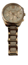 Michael Kors MK7178 Women's Janelle Chronograph Rose Gold-Tone & Pave Watch  - $195.00