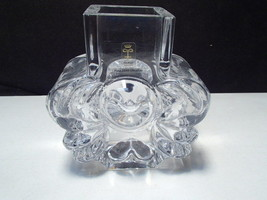 Skruf Crystal Sweden Vase ~ ~  Lars Hellesten ~ Mid Century ~ signed & t... - $24.99