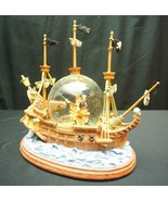 Disney Peter Pan Fighting with Captain Hook Ship Musical Snowglobe You C... - $249.95